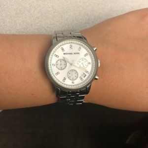 Michael Kors chronograph Mother of Pearl watch